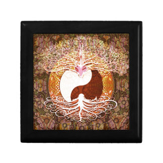 Ying Yang Heart Tree of Life Keepsake Box