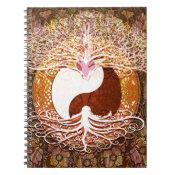 Ying Yang Heart Tree of Life Notebook (<em>$13.70</em>)