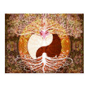 Ying Yang Heart Tree of Life Postcard (<em>$1.00</em>)