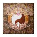 Ying Yang Heart Tree of Life Tile
