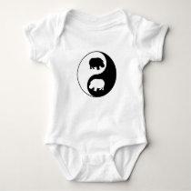 Ying yang hippo baby bodysuit