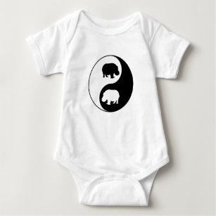 tao baby clothes shoes zazzle Koh Samui to Koh Tao ying yang hippo baby bodysuit