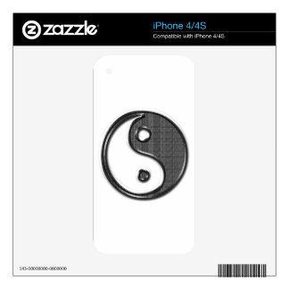 Ying Yang iPhone 4S Decals