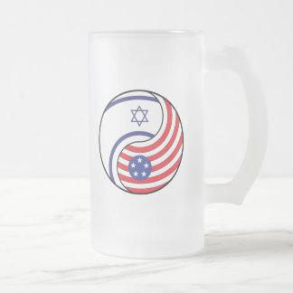 Ying Yang Israel America Mug