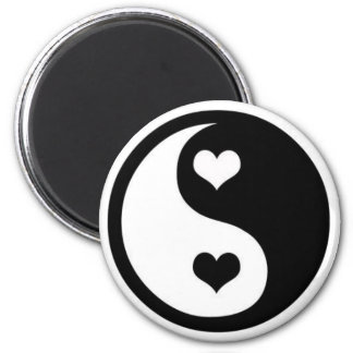 Ying Yang Love 2 Inch Round Magnet