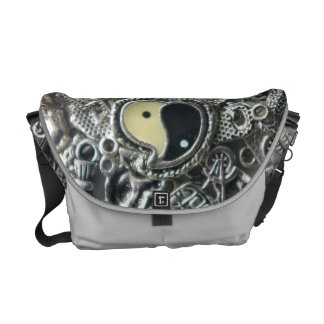 Ying Yang lucky charms Courier Bag