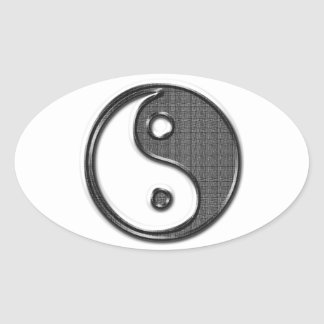 Ying Yang Oval Sticker