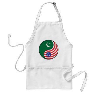 Ying Yang Pakistan America Adult Apron