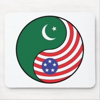 Ying Yang Pakistan America Mouse Pad