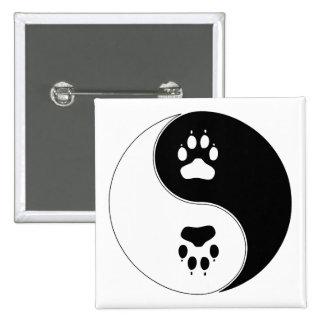 Ying Yang Paw Print Pins