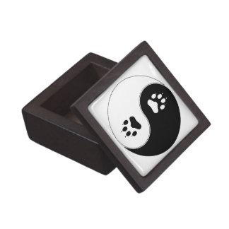 Ying Yang Paw Print Keepsake Box