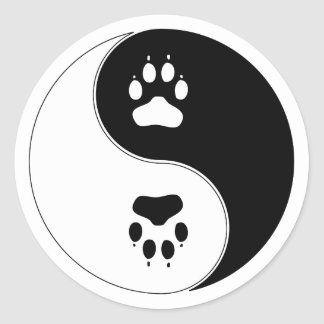 Ying Yang Paw Print Sticker