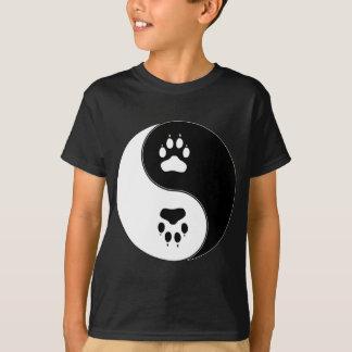 Ying Yang Paw Print T-Shirt