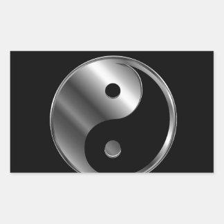 Ying yang rectangular pegatinas