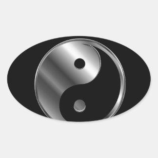 Ying yang calcomanía de oval personalizadas