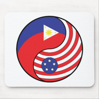 Ying Yang Philippines America Mouse Pads