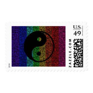 Ying Yang Postage Stamps
