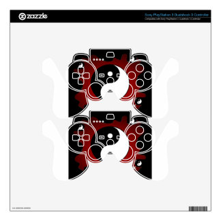 YING YANG RED BACKGROUND PRODUCTS PS3 CONTROLLER DECALS