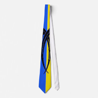 YING YANG ROOSTER TAIL NECK TIE
