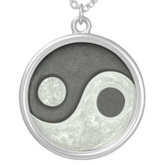 Ying Yang Round Pendant Necklace