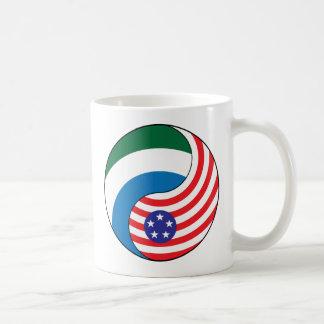 Ying Yang Sierra Leone America Coffee Mug