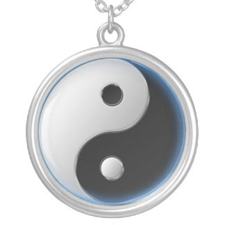 Ying Yang Silver Plated Necklace