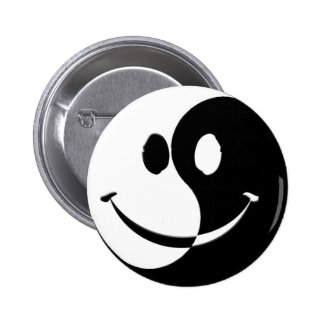 Ying / Yang Smiley Button