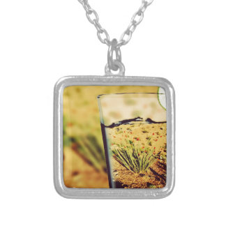 Ying -Yang Square Pendant Necklace