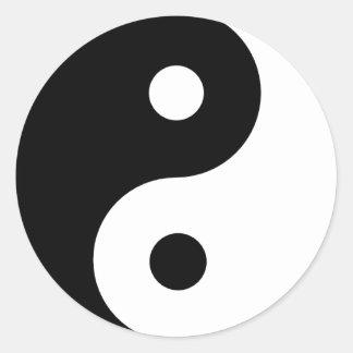 Ying Yang Round Sticker