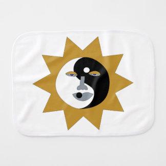 Ying Yang Sun Burp Cloth