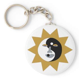 Ying Yang Sun Keychain