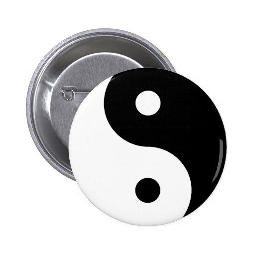 Ying Yang Symbol Button