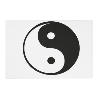 Ying yang, tao, arte chino de la energía, shui del tapete individual