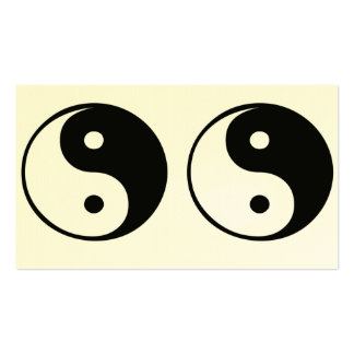 Ying yang,tao,chinese art of energy,feng shui Double-Sided standard business cards (Pack of 100)