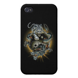 Ying-Yang-Tiger-Dragon Case For iPhone 4