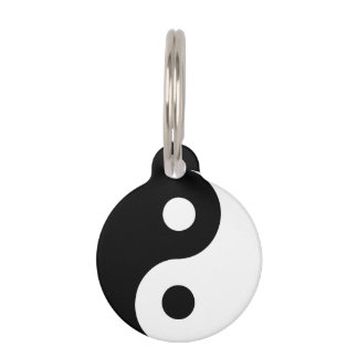 Ying Yang with Information on Back Pet Tag