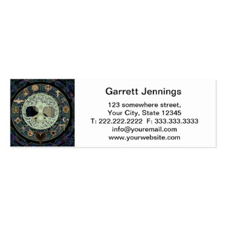 ying yang with religious symbols Double-Sided mini business cards (Pack of 20)
