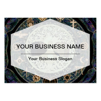 ying yang with religious symbols large business cards (Pack of 100)
