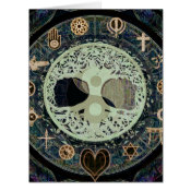 ying yang with religious symbols card (<em>$7.35</em>)