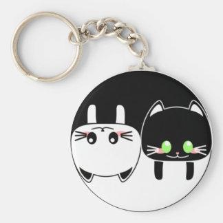 YingYang Cats Keychain