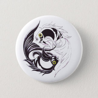 YingYang Koi Pinback Button