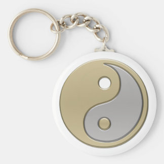 yinyang basic round button keychain