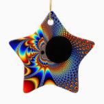 YinYang BigBang Christmas Fractal Ceramic Ornament