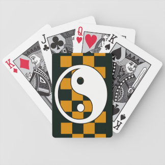 yinyang checkers yellow bicycle playing cards