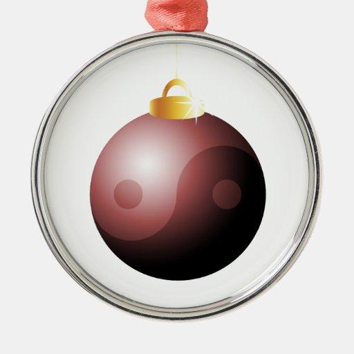YinYang Christmas Ball Ornament