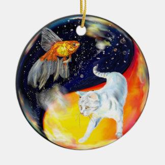 Yinyang Ornamento De Navidad