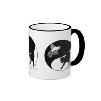 YinYang Fish and Cat - Mug with 3 images