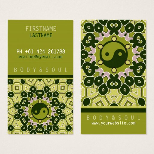 YINYANG green Business Card