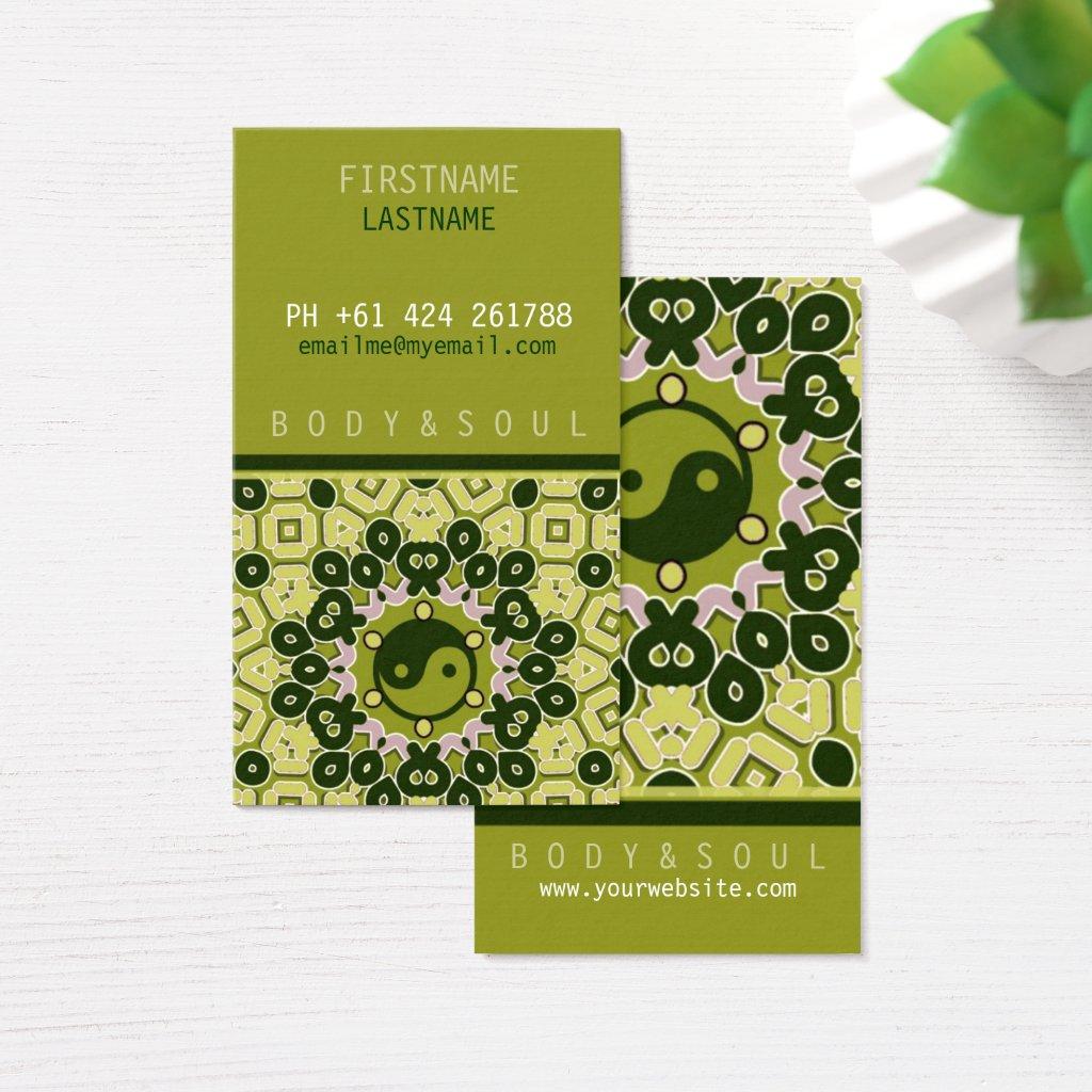 YINYANG green Business Card