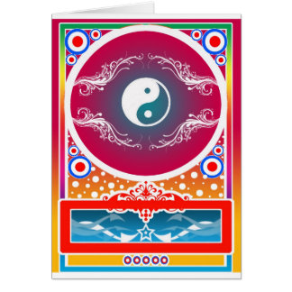 yinyang greeting card